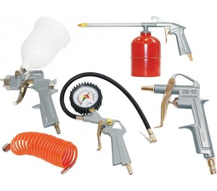 Набор пневмоинструмента FUBAG, 5 предметов (краскораспылитель с верхним бачком)