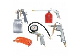 Набор пневмоинструмента FUBAG, 5 предметов (краскораспылитель с нижним бачком)