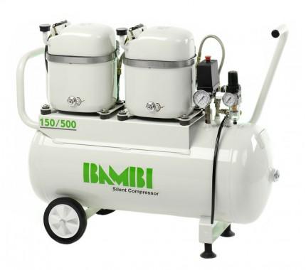 Компрессор бесшумный масляный Bambi MD150/500