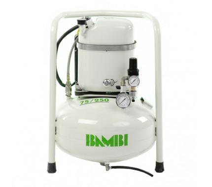 Компрессор бесшумный масляный Bambi MD75/250V